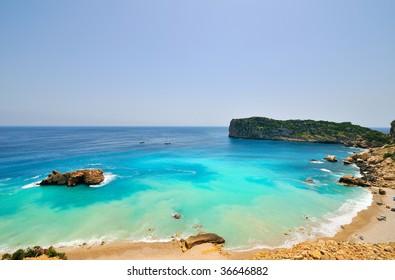 gorgeous mediterranean beach in summer