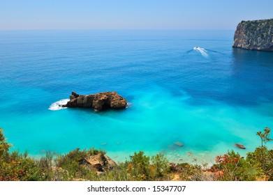 gorgeous mediterranean beach in summertime