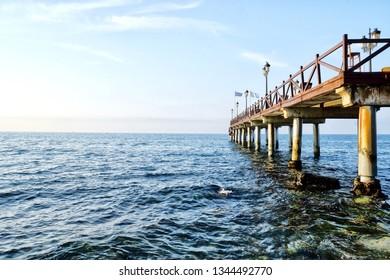 A gorgeous pier in Marbella, Spain