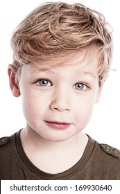 Gorgeous portrait of beautiful young boy.