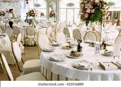 Gorgeous restaurant for the wedding celebration