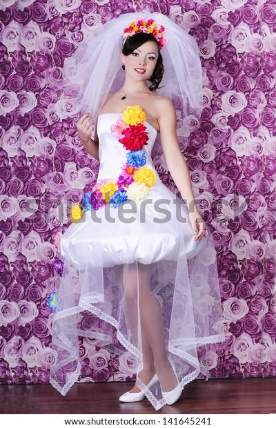 Gorgeous Sexy Bride Luxury Wedding Dress Stock Image Download Now