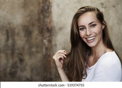 Gorgeous smile on model, portrait