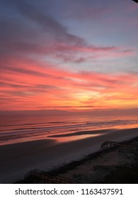 Gorgeous sunrise over the Atlantic Ocean in Ponce Inlet, FL