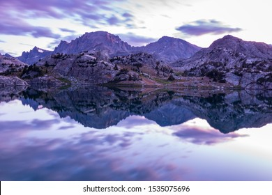 Gorgeous sunrise reflection in the Wind River Range of Wyoming