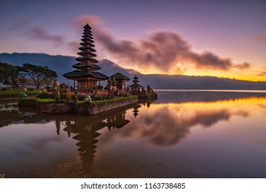 Gorgeous Sunrise View of Pura Ulun Danu Beratan, Bali, Indonesia
