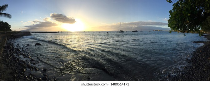 Gorgeous Sunset in Old Lahaina, Maui, Hawaii