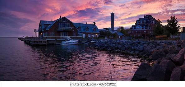 Gorgeous sunset over Kingston, Ontario, Canada.