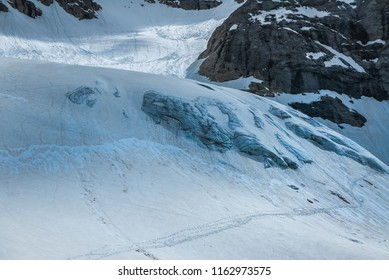 Gorgeous tongue of Marmolada glacier