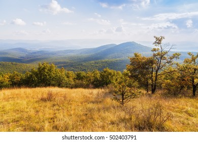 Gorgeous view of Borzsony mountains in Hungary