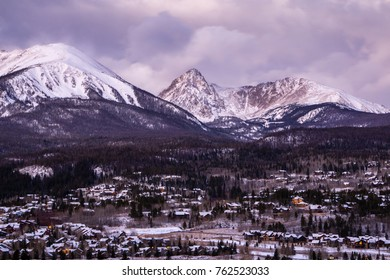 A gorgeous view of Colorado's Gore Range in the early winter.