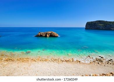 gorgeous view of a mediterranean beach
