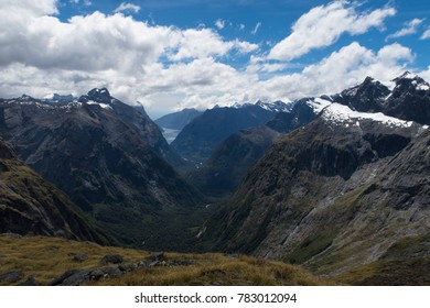 Gorgeous view over Fiordland in New Zealand