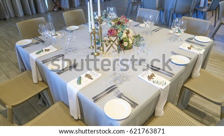 Gorgeous Wedding Reception Table Layout