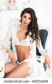 gorgeous woman with dark long hair  wearing white lingerie,art, filters, noise added, concept, dirty, fine film noise added
