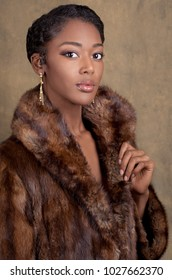 Gorgeous Woman in Fur Coat