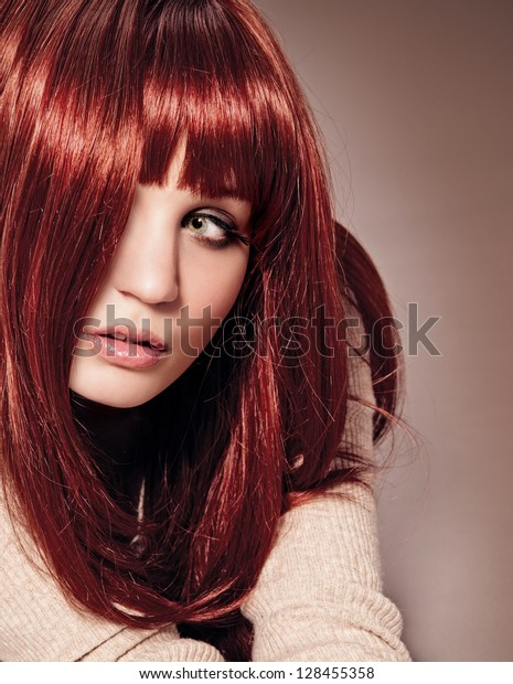 gorgeous woman with red hair