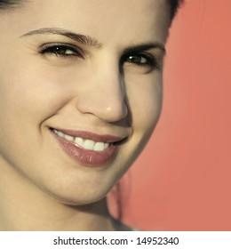 gorgeous woman smiling