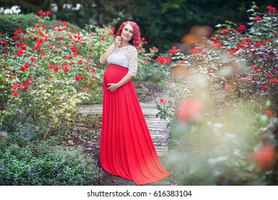 Pregnant Women Long Gown Hd Stock Images Shutterstock