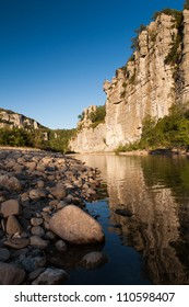 Gorges of Chassezac in Ardeche in the South of France