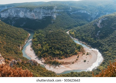 The Gorges de Ardeche is made up of a series of gorges in the river Ardeche, forming a thirty-kilometre long canyon.