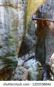 Gorges du Fier walkway, close to Annecy, France