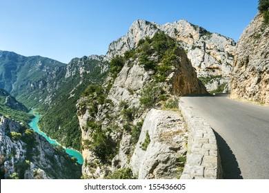 Gorges du Verdon (Alpes-de-Haute-Provence, Provence-Alpes-Cote d'Azur, France(, famous canyon