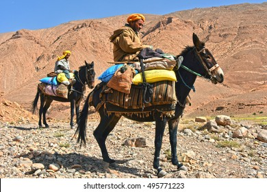 GORGES TOUDRA, MOROCCO - SEPT 25, 2016: Berbers are indigenous people to Atlas Mountains of Morocco.