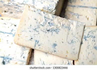 Gorgonzola cheese as a background in the market