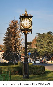 GORI. GEORGIA. 08 NOVEMBER 2016 : Clock in park of Gori. Shida Kartli mkhare. Georgia