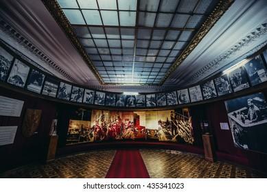 Gori, Georgia - April 23, 2015. Hall in Museum of Joseph Stalin in his hometown - Gori
