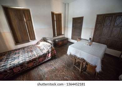 Gori, Georgia, circa august 2018: Home house of Joseph Stalin, his birth place interior in Gori, Georgia