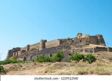 Gori, Georgia - Jul 04 2018: Ruins of Gori fortress. a famous Historic site in Gori, Shida Kartli, Georgia.