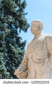 Gori, Georgia - Jul 04 2018: Statue of Joseph Stalin at Stalin Museum in Gori, Shida Kartli, Georgia. Gori is birth town of Joseph Stalin.