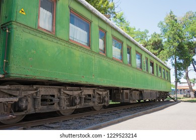 Gori, Georgia - Jul 04 2018: The train wagon of Stalin, Stalin Museum in Gori, Shida Kartli, Georgia. Gori is birth town of Joseph Stalin.