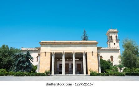 Gori, Georgia - Jul 04 2018: House of birth of Stalin at Stalin Museum in Gori, Shida Kartli, Georgia. Gori is birth town of Joseph Stalin.