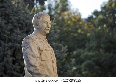 Gori, Georgia - OCTOBER 13, 2018: Monument to the Soviet leader Josef Stalin in his hometown Gori in Georgia