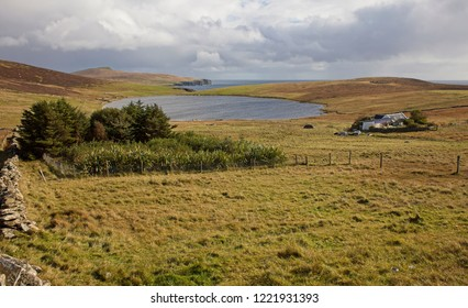 Gorie and Loch of Grimsetter, Bressay, Shetland, Scotland, UK.