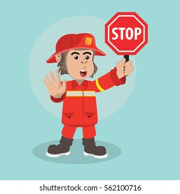 gorilla firefighter stop warning