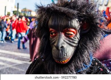 Gorilla Mask at Carnival Parade