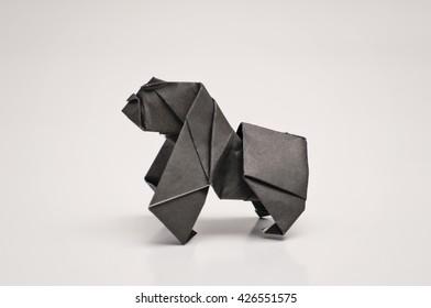 A gorilla origami