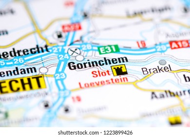 Gorinchem. Netherlands on a map
