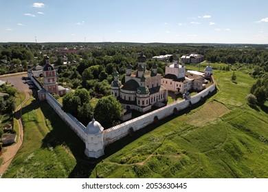 Goritsky monastery in Pereslavl Zalessky from drone