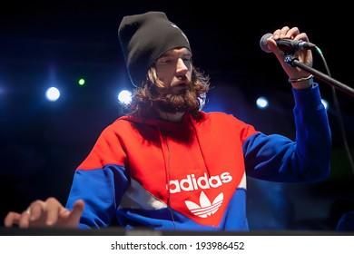 "GORNI ALTAI, RUSSIA - may 11: group NOIZE MC headliner of multi-formatted music festival  ""Energy Days"". Final main program. ""Dni Energii"", NOIZE MC, May, 11, 2014, Gorni Altai, Russia"