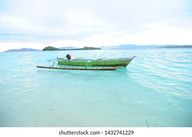 Gorontalo, Indonesia. August 24, 2014. Traditional fishing boats in Gorontalo that are used to catch fish.