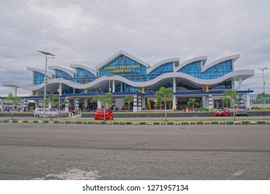Gorontalo, Indonesia - January 19, 2019. Front view of Djalaluddin Gorontalo airport.