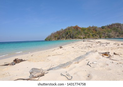 Gorontalo utara, Indonesia. October 25, 2014. island without inhabitants in lito bogisa island. clear sand and blue sea water make you feel happy