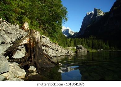Gosau lake in the Alps