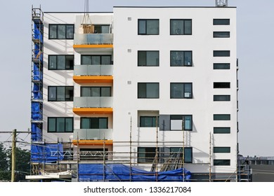 Gosford, New South Wales, Australia - March 6 , 2019: Construction and building progress on new home units building site at 47 Beane St.