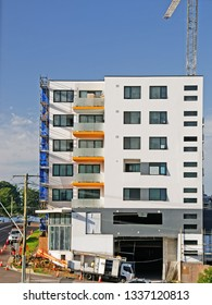Gosford, New South Wales, Australia - March 8, 2019: Construction and building progress on new home units building site at 47 Beane St. Update 212
